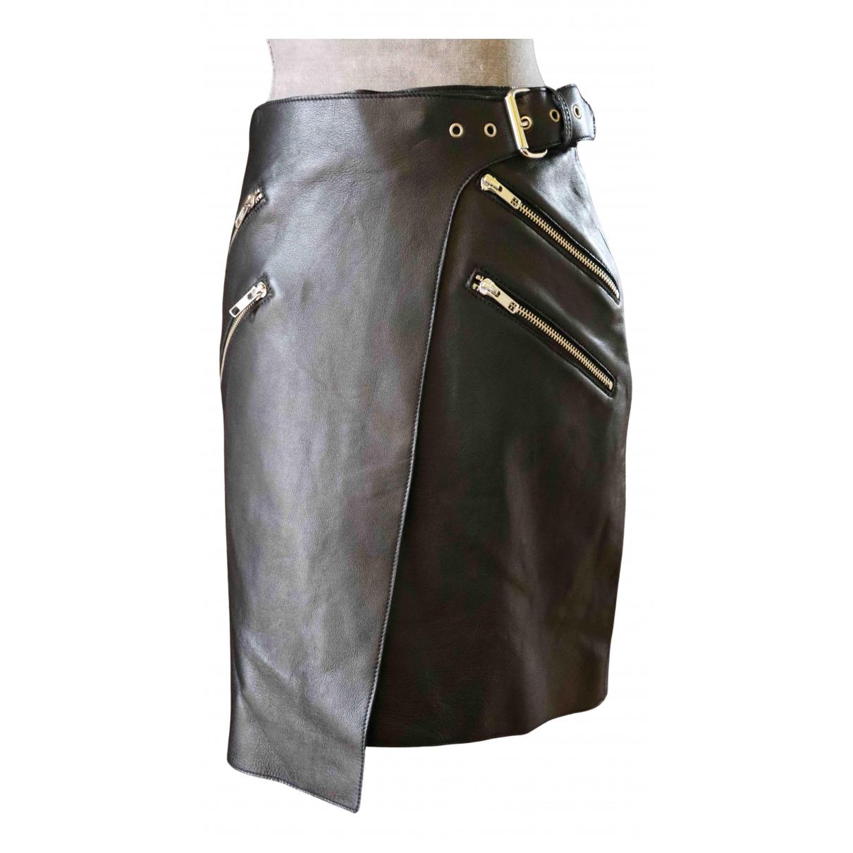 Zoe Karssen N Black Leather skirt for Women 34 FR