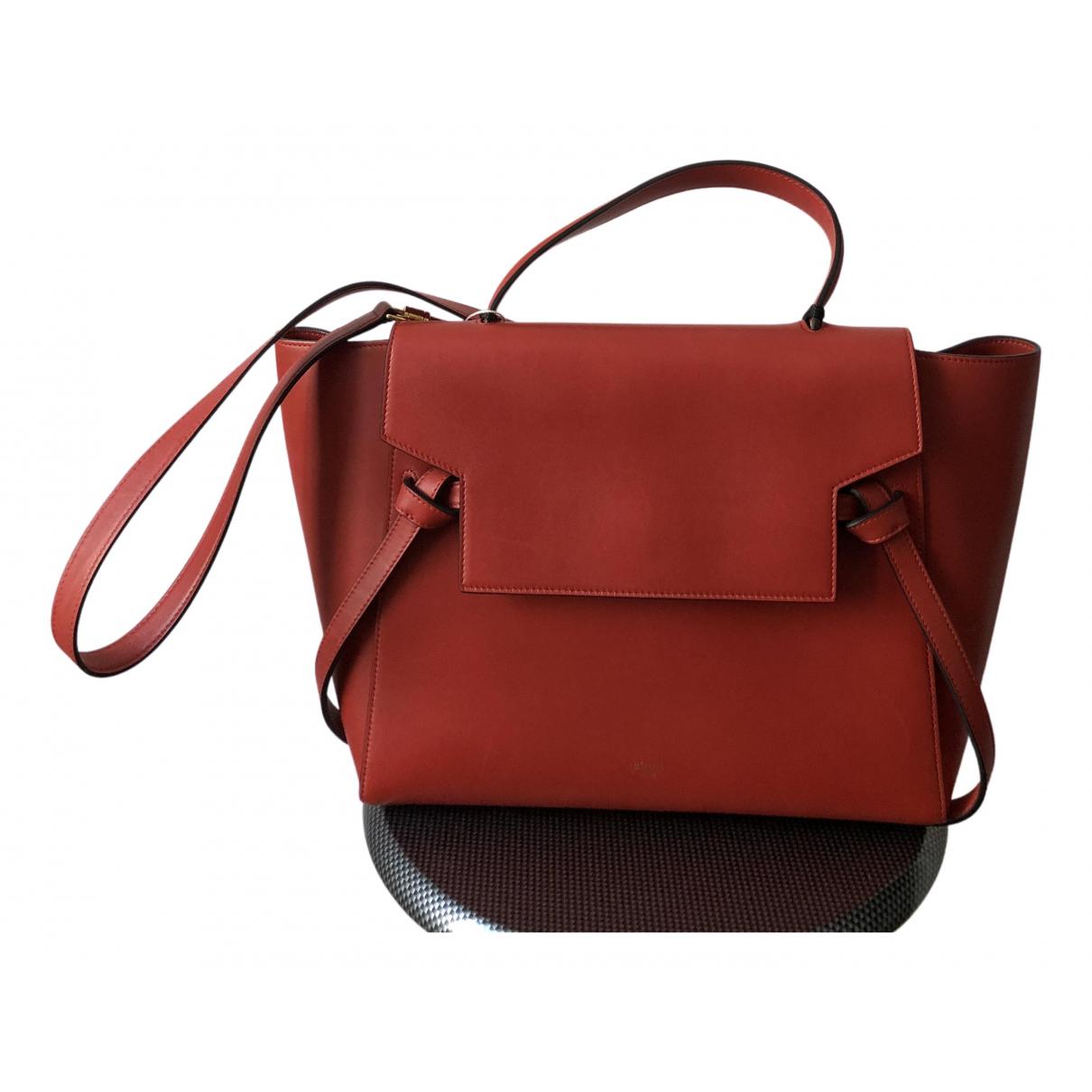 Celine Belt Handtasche in  Rot Leder