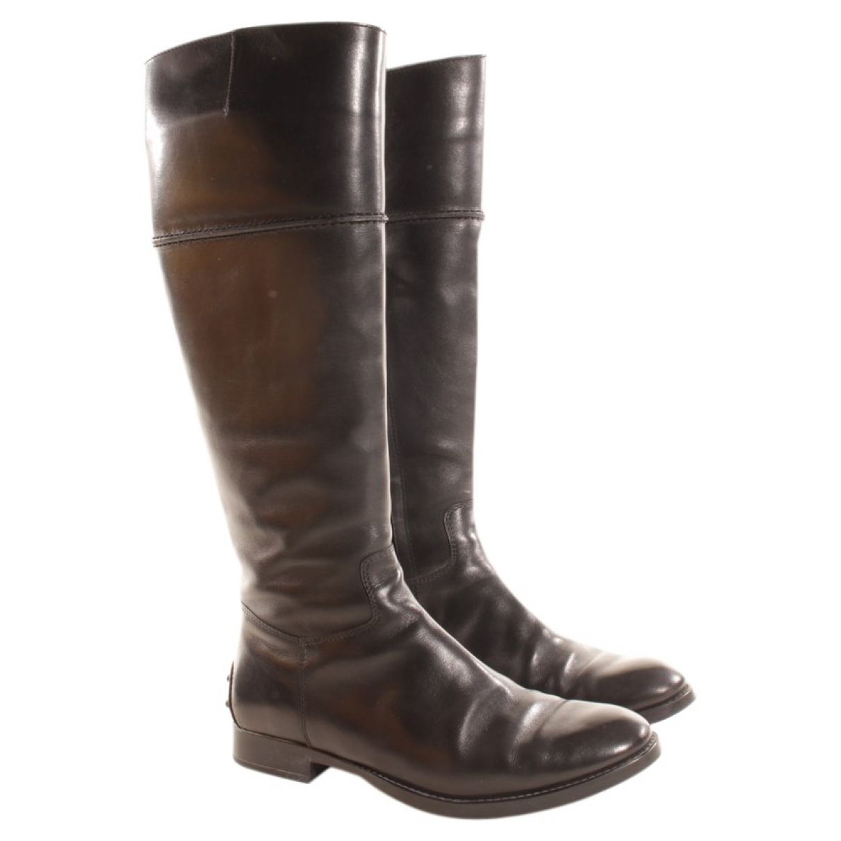 Tod's \N Black Leather Boots for Women 35.5 EU