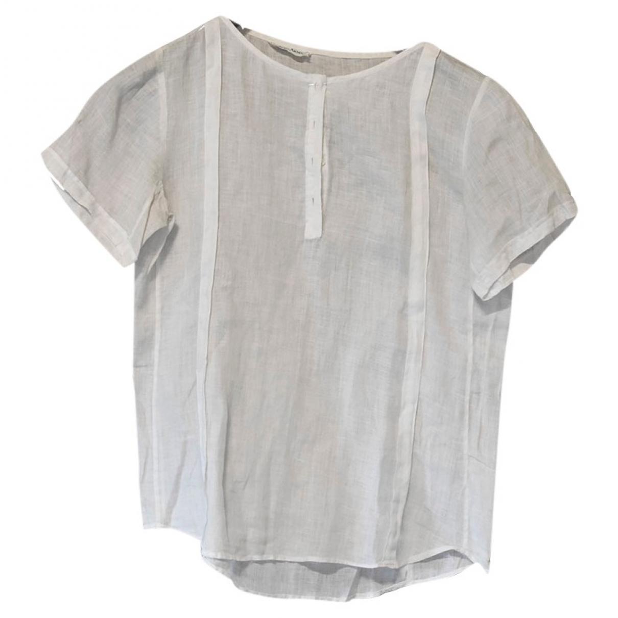 Giorgio Armani - Top   pour femme en lin - blanc