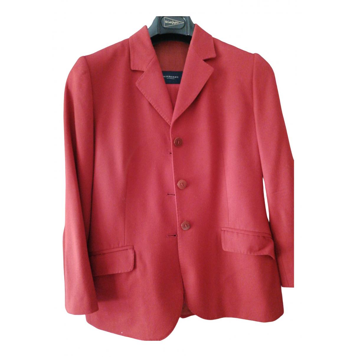 Burberry N Burgundy Wool jacket for Women 40 FR