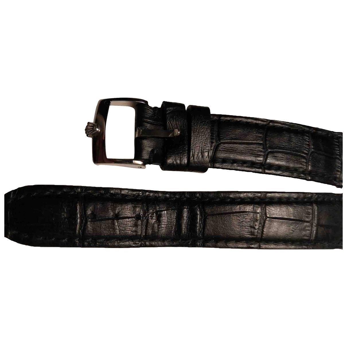 Rolex - Montre   pour homme en cuir - marron