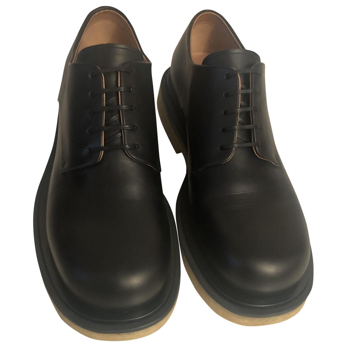 Bottega Veneta \N Black Leather Lace ups for Men 41 EU