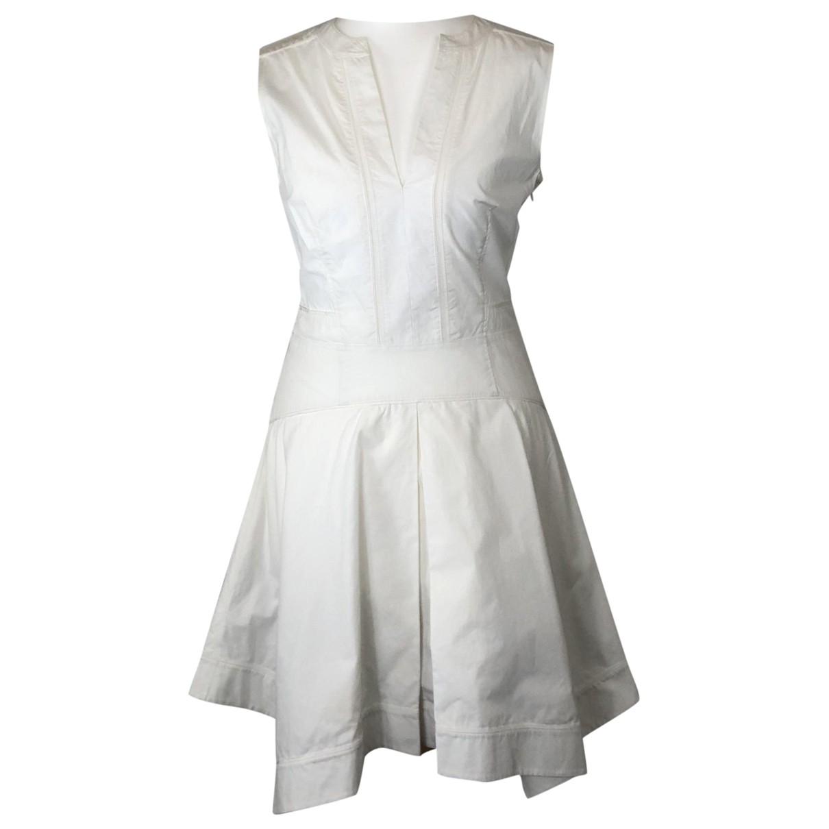Proenza Schouler \N Kleid in  Weiss Baumwolle