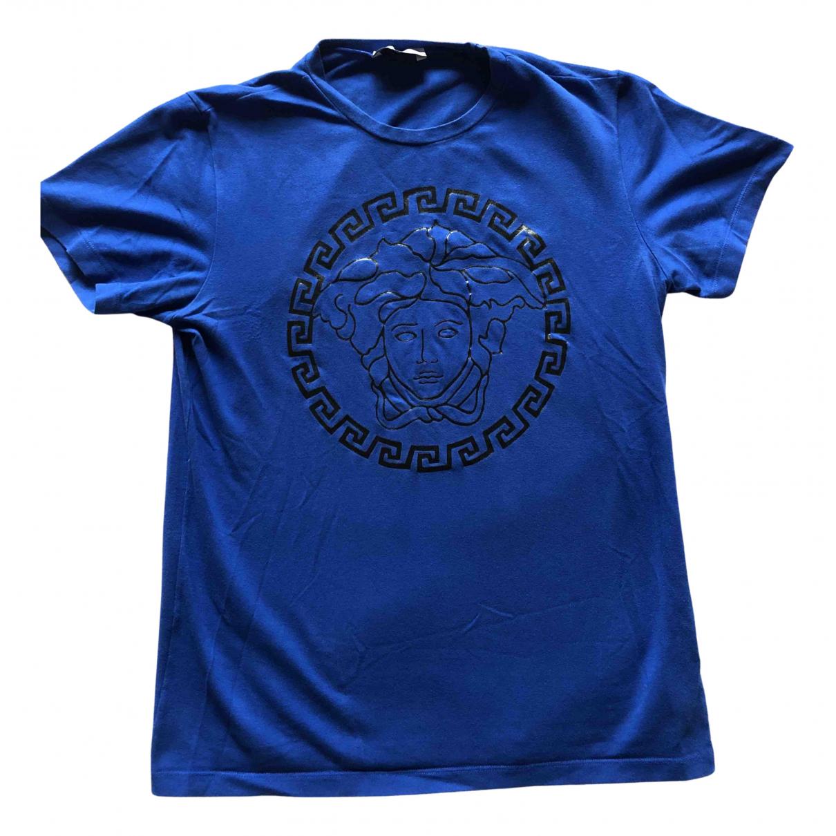 Versace - Top   pour enfant en coton - bleu