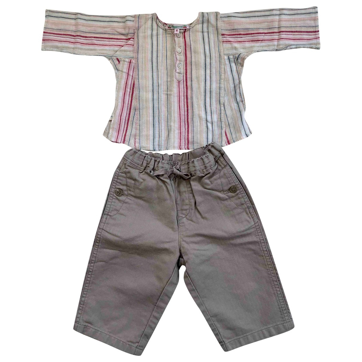 Bonpoint - Les ensembles   pour enfant en coton - beige