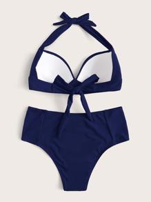 Push Up Halter High Waisted Bikini Swimsuit