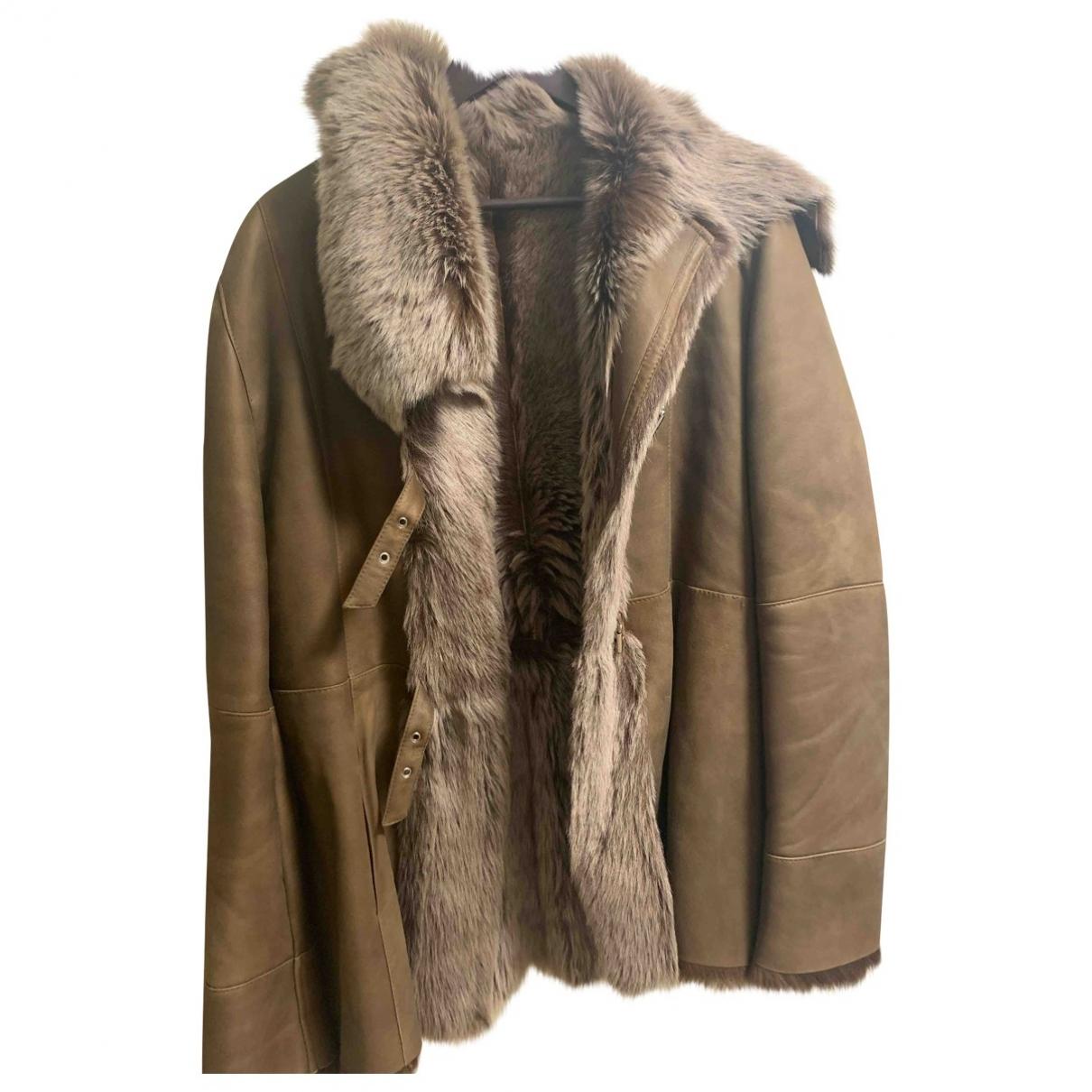 Sprung Frères \N Camel Fur jacket for Women One Size FR