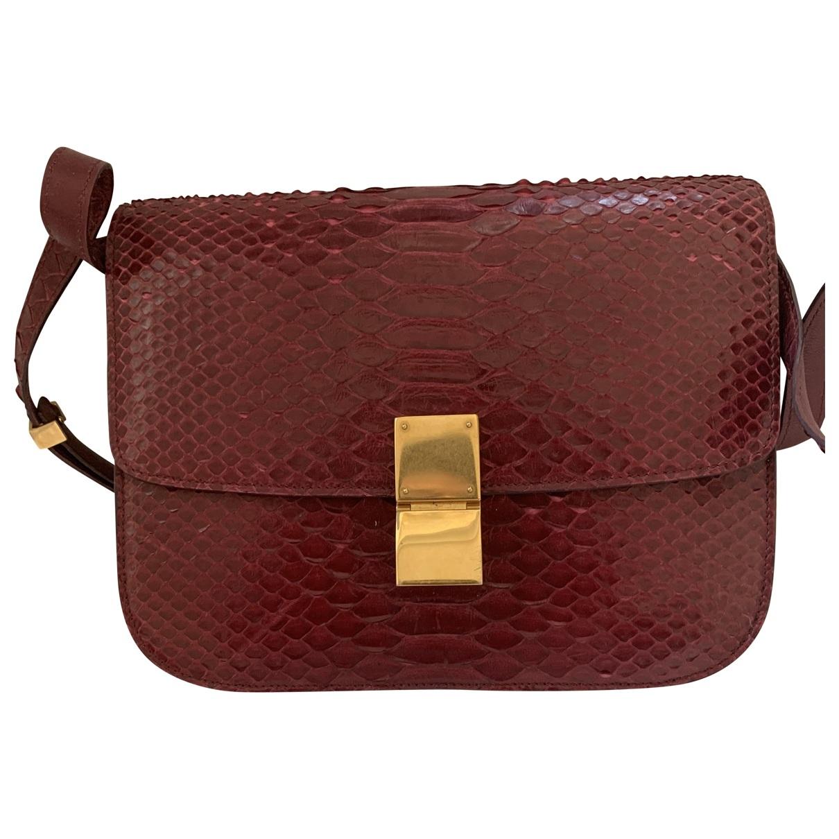 Celine Classic Red Python handbag for Women \N