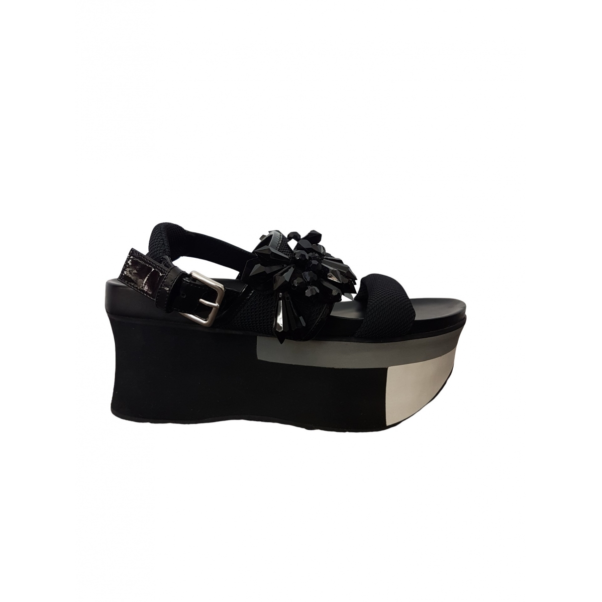 Marni \N Black Cloth Sandals for Women 39 EU