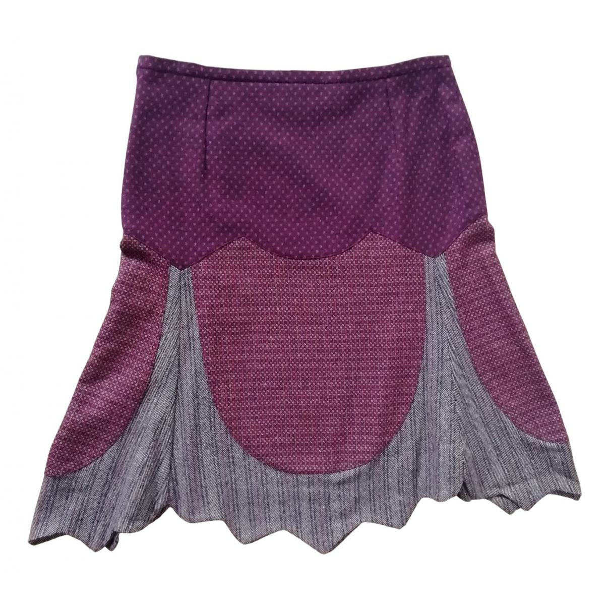 Etro - Jupe   pour femme en laine - bordeaux