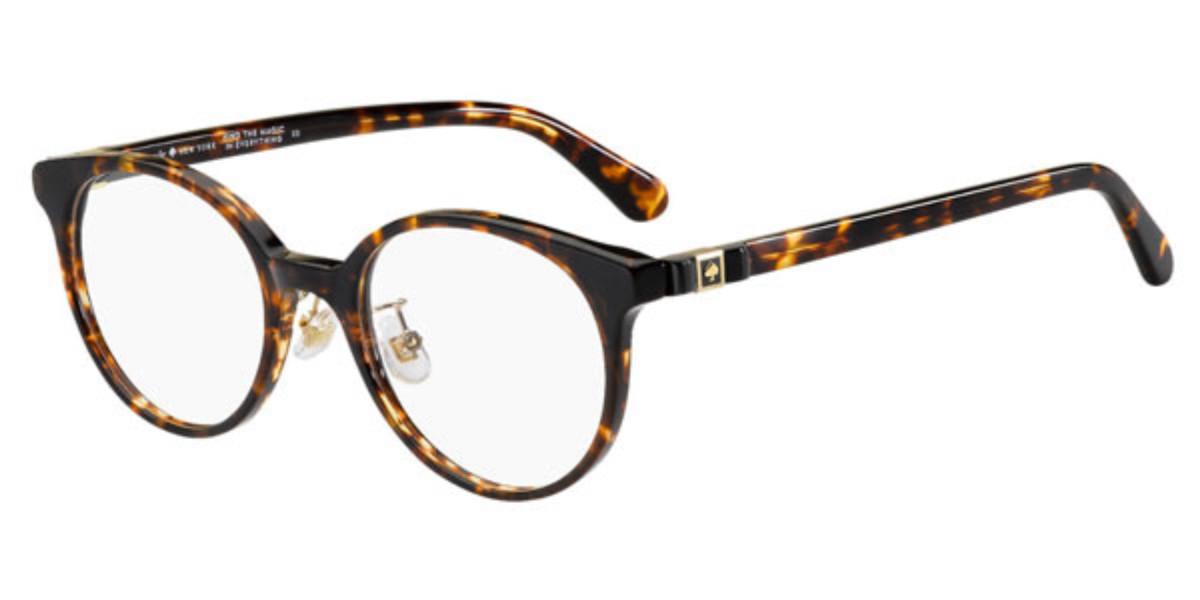 Kate Spade Genell/F Asian Fit 086 Women's Glasses Tortoise Size 49 - Free Lenses - HSA/FSA Insurance - Blue Light Block Available
