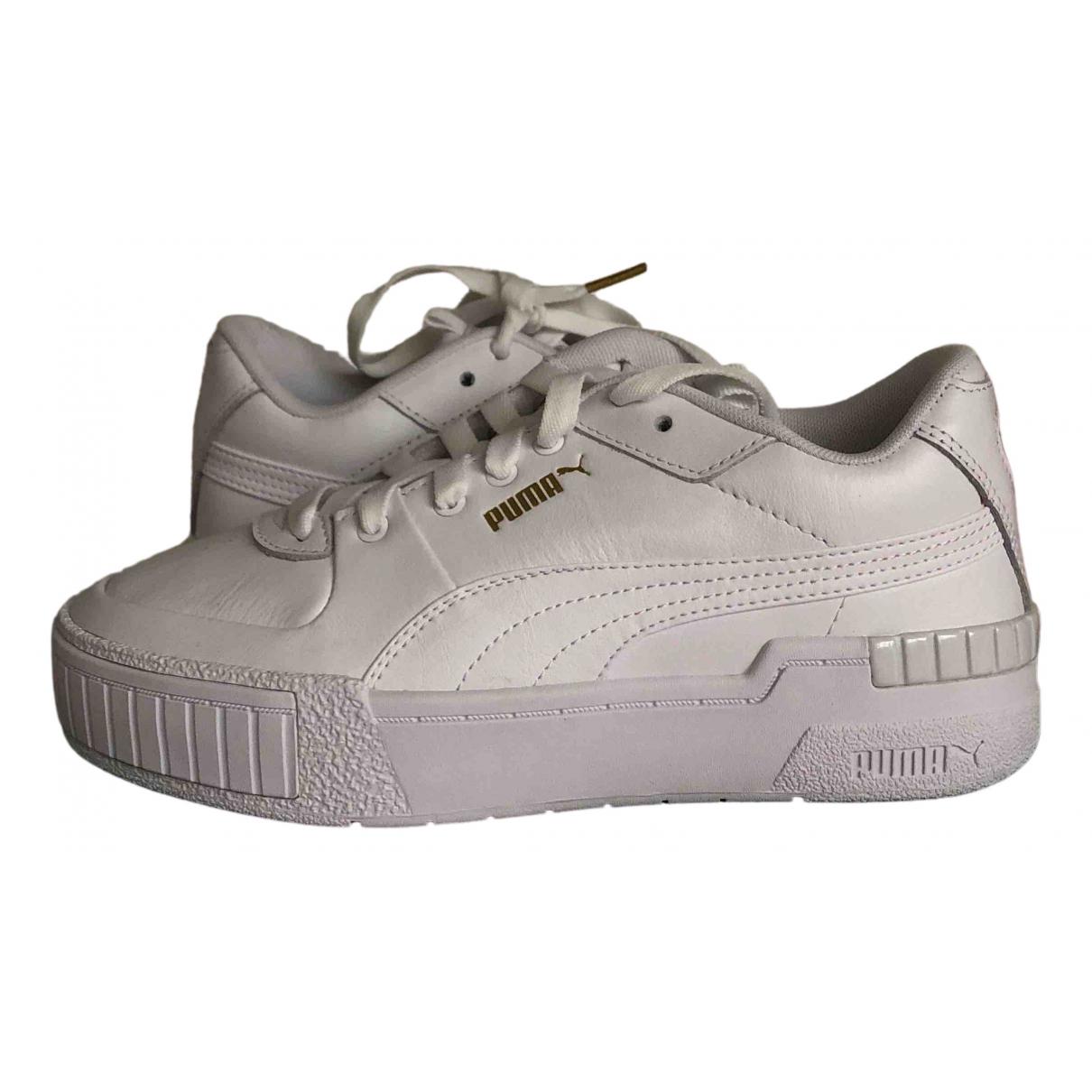 Puma \N White Leather Trainers for Women 37 EU