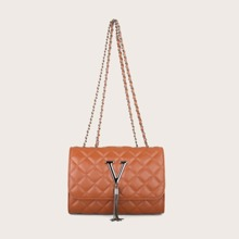 Tassel Decor Chain Shoulder Bag