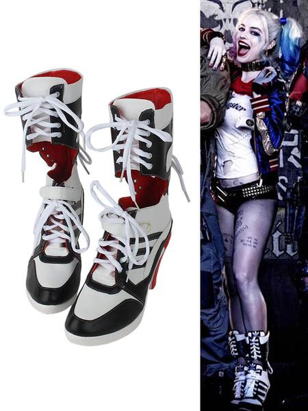 Milanoo Batman Suicide Squad Harley Quinn Halloween 2017 Film Cosplay Shoes