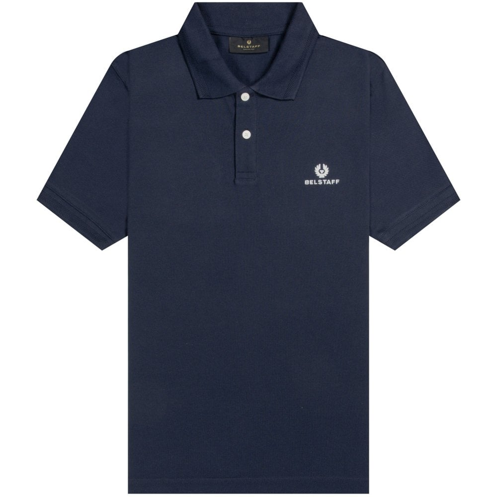 Belstaff Short Sleeve Polo Colour: NAVY, Size: LARGE