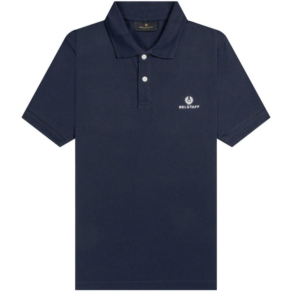 Belstaff Short Sleeve Polo Colour: NAVY, Size: LARGE