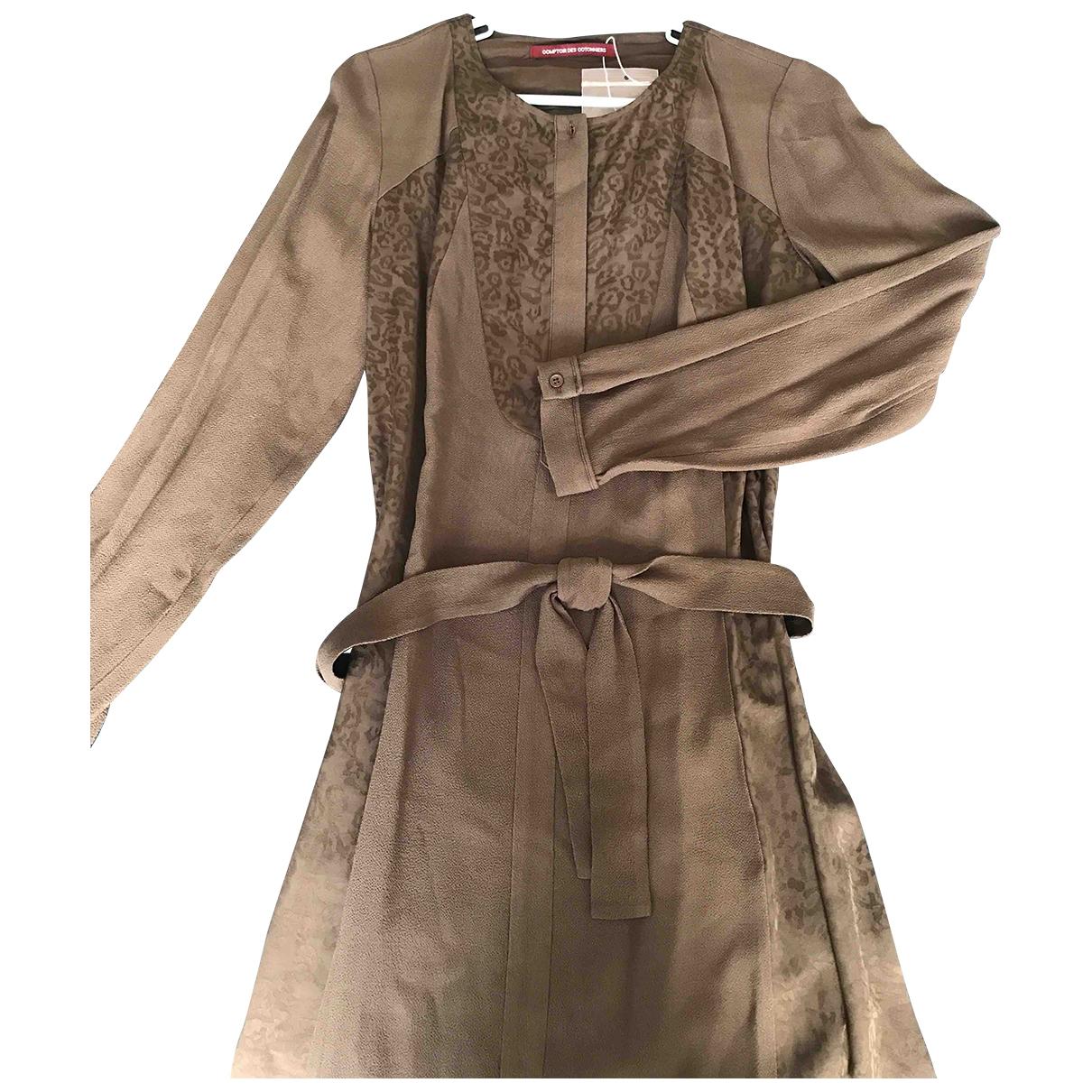 Comptoir Des Cotonniers \N Khaki dress for Women 40 FR
