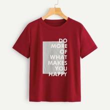 Camiseta con estampado de slogan