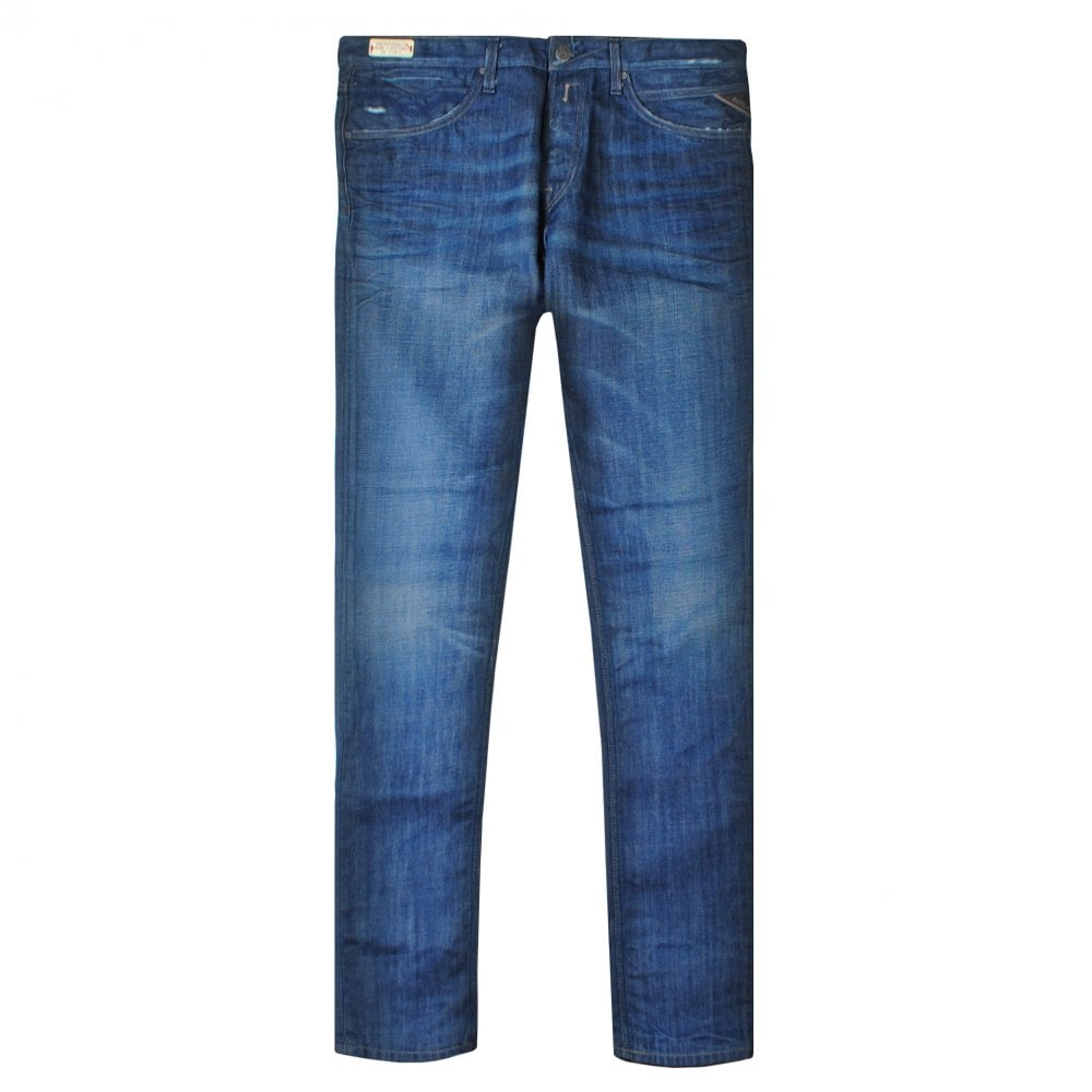 Replay Tirmar Tapered Jeans Colour: BLUE, Size: 32 34