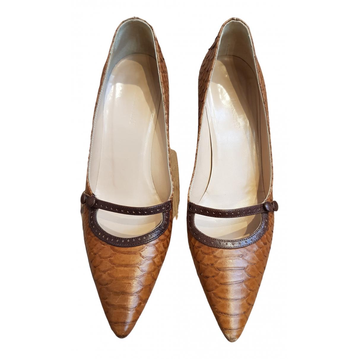 Lk Bennett N Brown Leather Heels for Women 37 EU