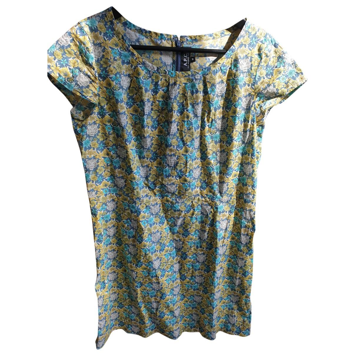 Apc \N Kleid in  Bunt Baumwolle