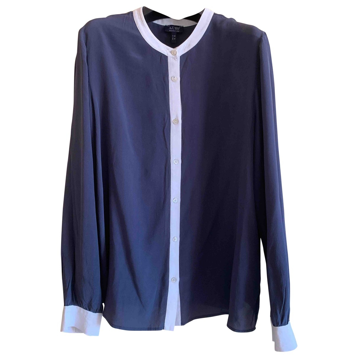 Armani Jean - Pull   pour femme en soie - bleu