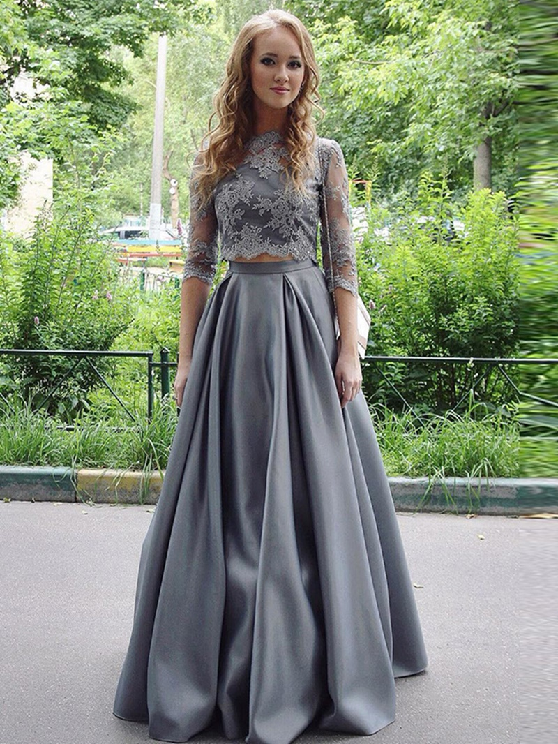 Ericdress 3/4 Length Sleeves A-Line Appliques Prom Dress