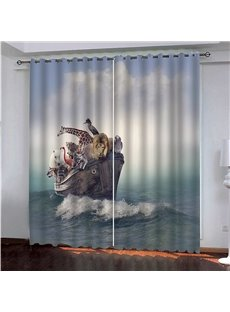 Blackout and Decorative 3D Animal Print Curtains for Living Room Bedroom Home Decor