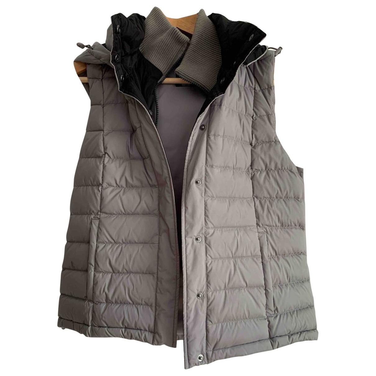 Uniqlo \N Lederjacke in  Grau Polyester
