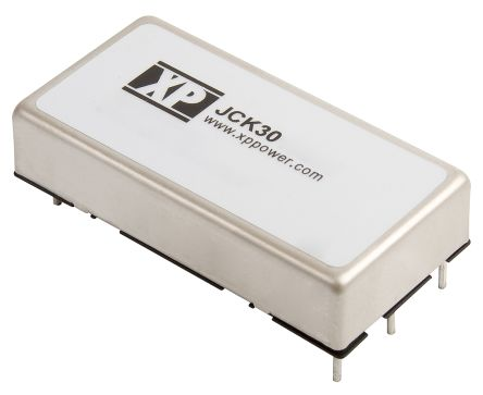 XP Power JCK 30W Isolated DC-DC Converter Through Hole, Voltage in 36 → 75 V dc, Voltage out ±15V dc