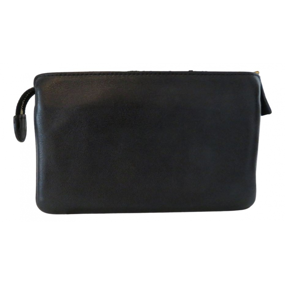 Delvaux \N Black Leather Clutch bag for Women \N