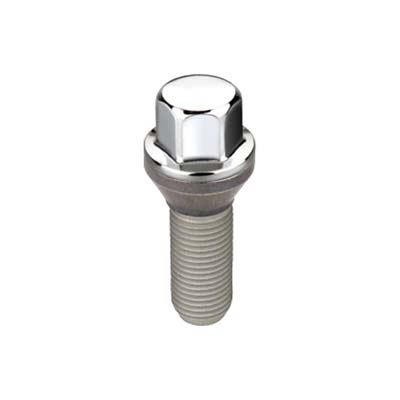 McGard 69761 Hex Lug Bolt (Cone Seat) M12X1.25 / 17mm Hex / 25.6mm Shank Length (Box of 50) - Chrome
