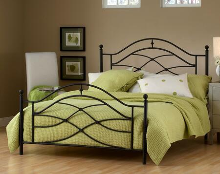 Cole 1601BFR Full Sized Bed with Headboard  Footboard  Frame   Intricate Castings and Aluminum Construction in Black Twinkle