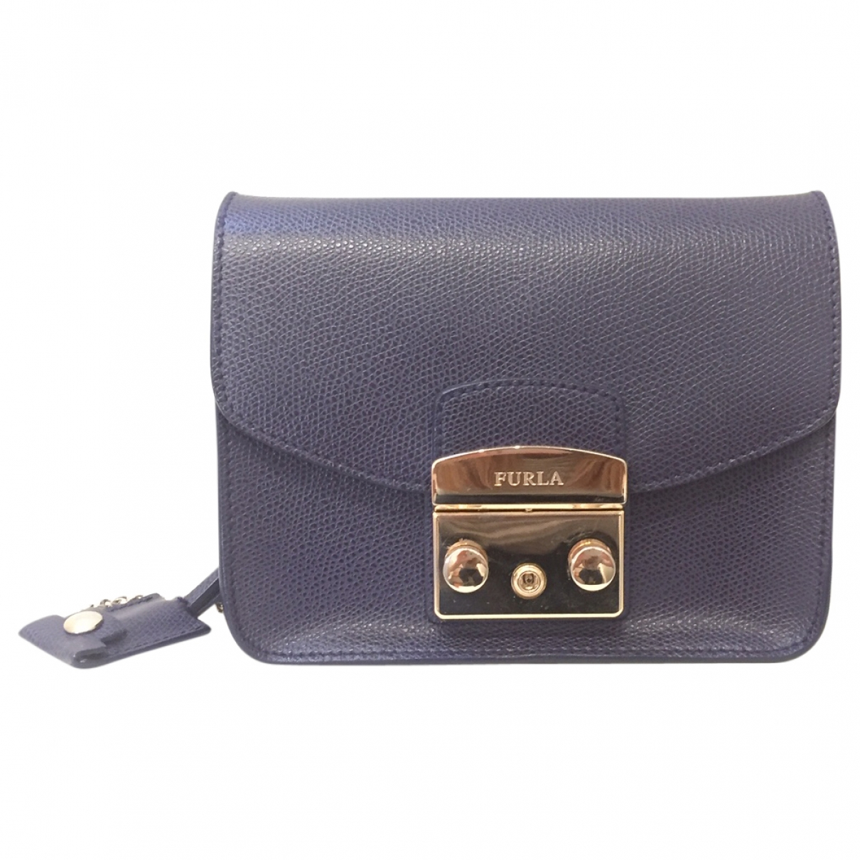 Furla Metropolis Blue Leather handbag for Women \N