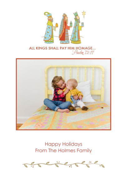 Christmas Photo Cards 5x7 Cards, Premium Cardstock 120lb with Rounded Corners, Card & Stationery -Traveling Kings