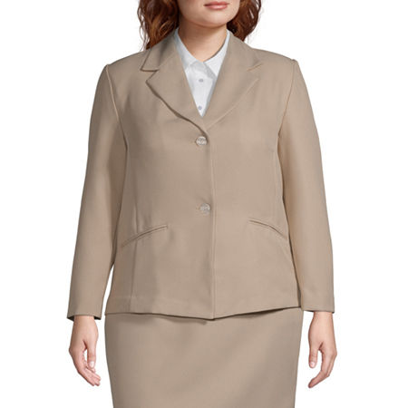 Alfred Dunner-Plus Suiting Suit Jacket, 24W , Beige