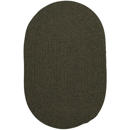 Colonial Mills Timberline Reversible Braided Oval Rug, One Size , Green