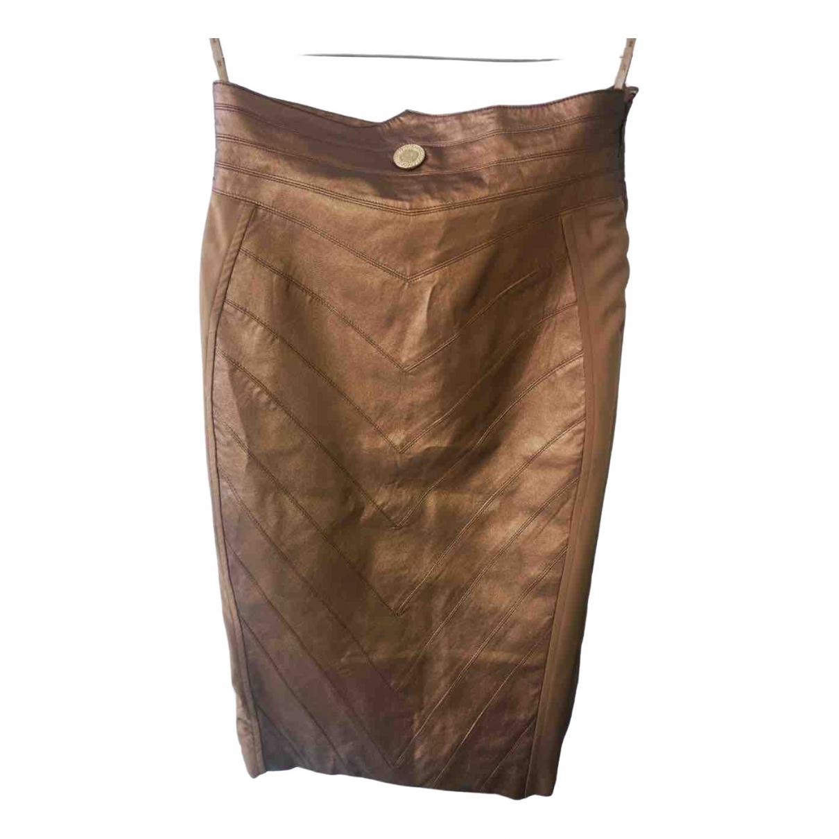 Elisabetta Franchi \N Gold skirt for Women 40 IT