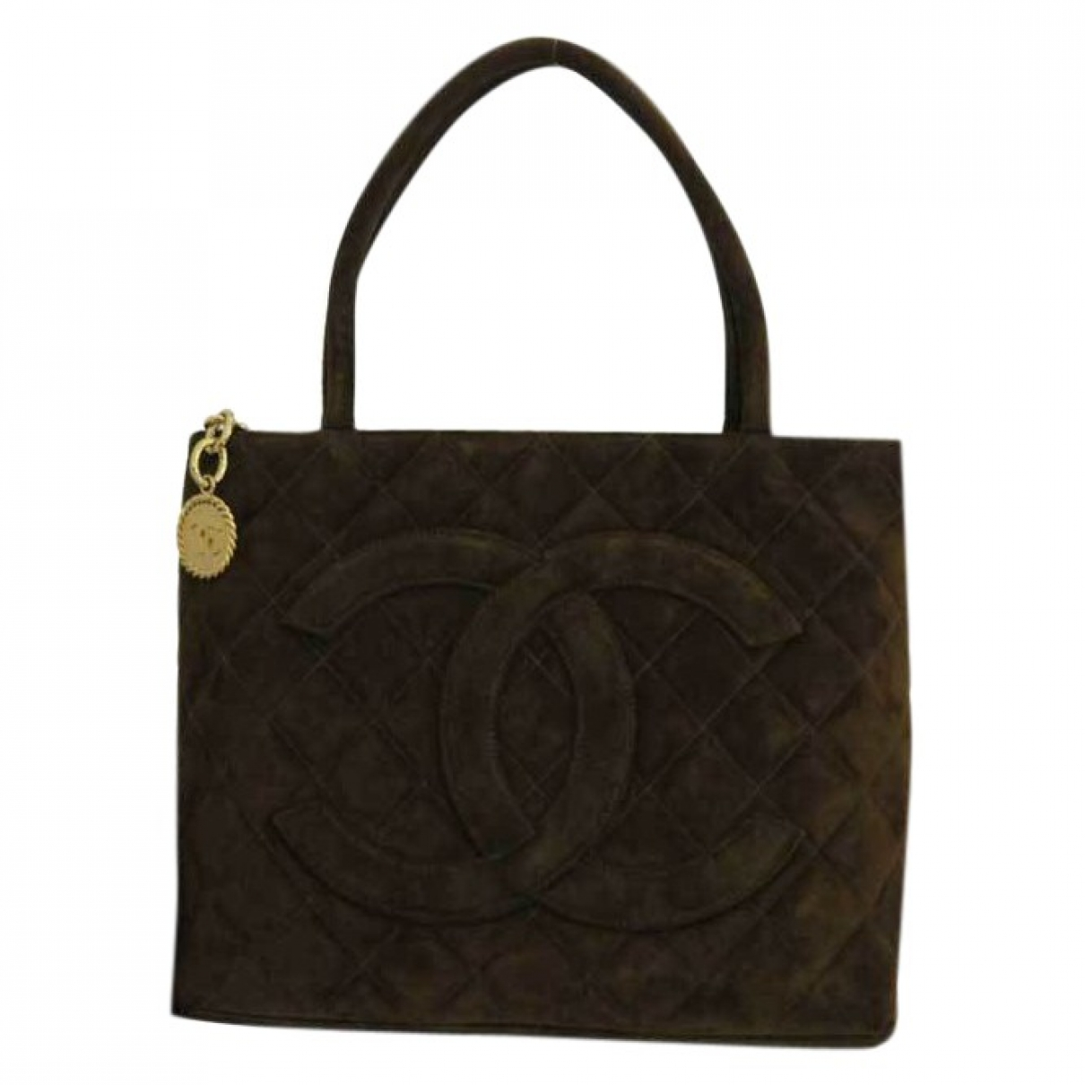 Chanel Médaillon Brown Suede handbag for Women \N