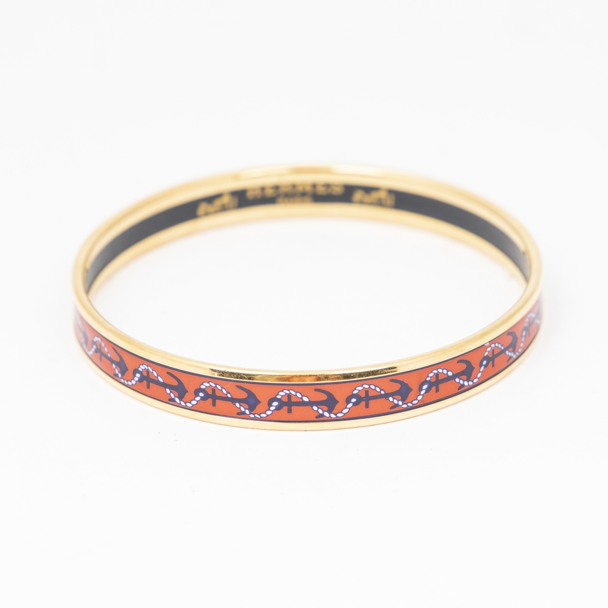 Hermes - Bracelet   pour femme en acier - orange