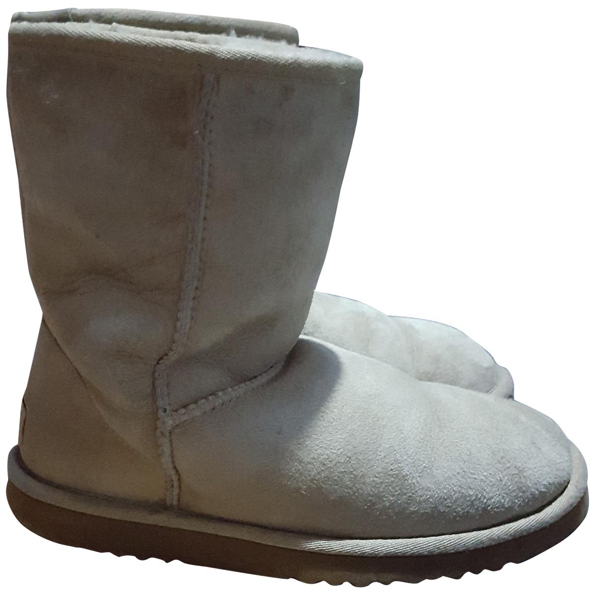 Ugg - Boots   pour femme en suede - beige