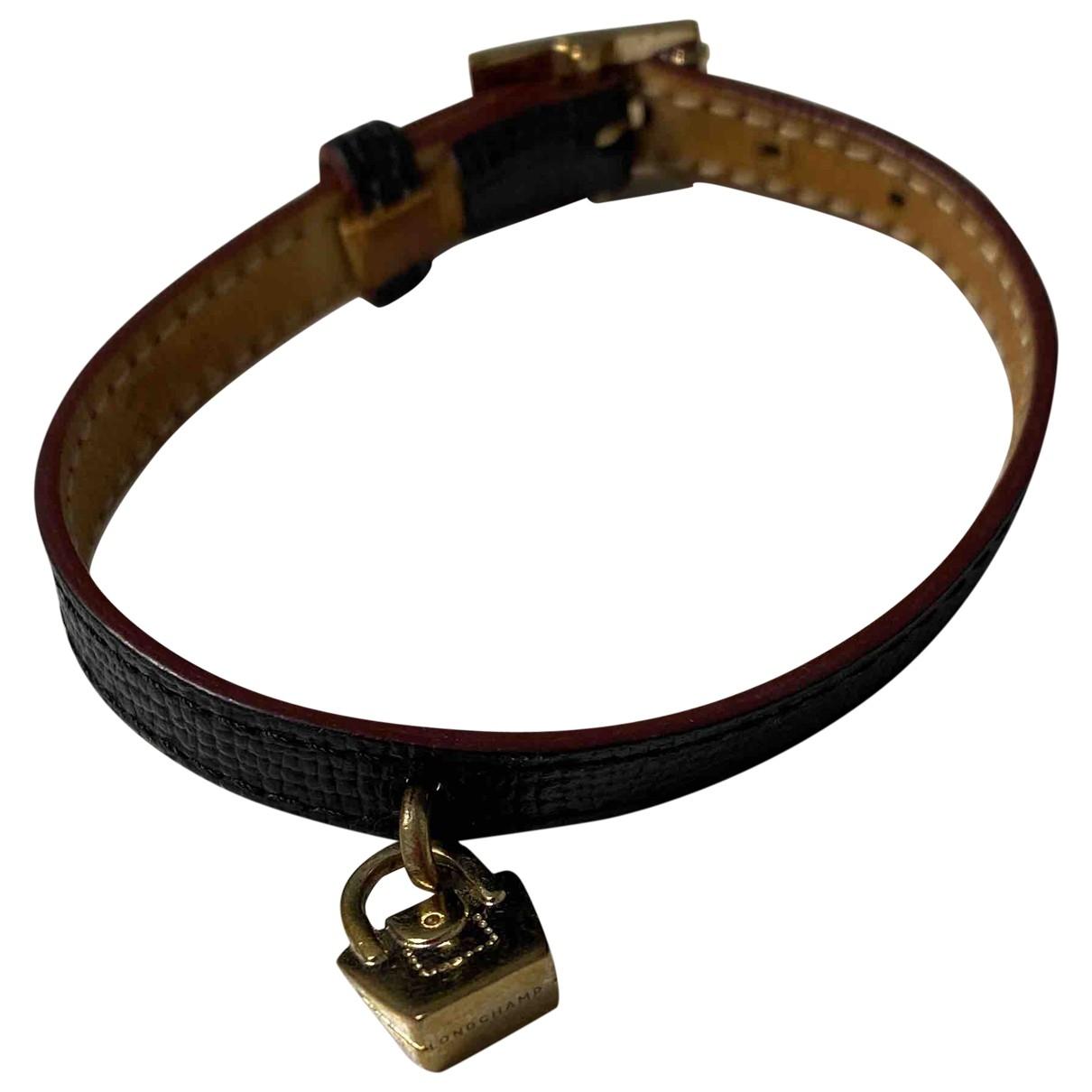 Longchamp \N Armband in  Schwarz Leder