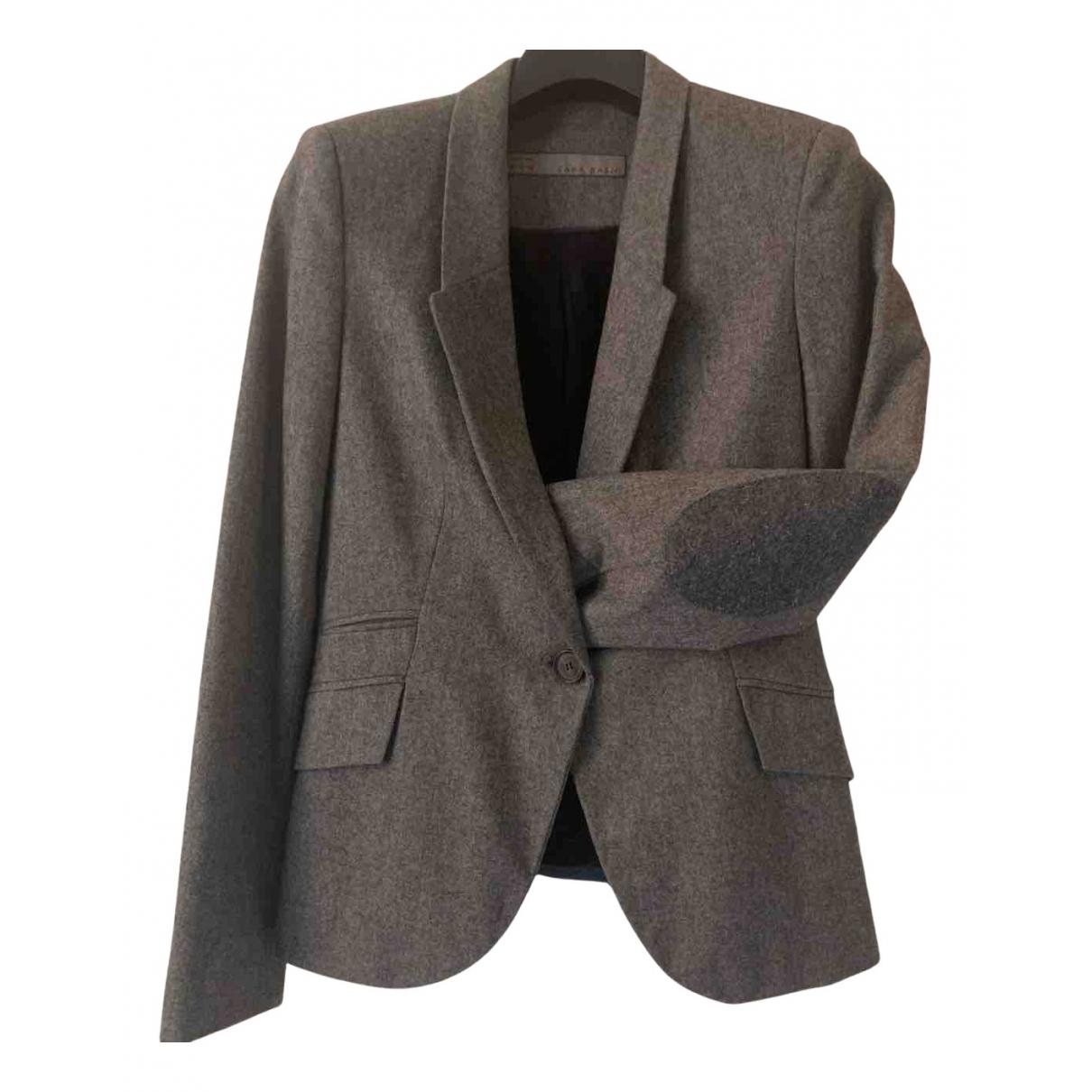 Zara N Grey Wool jacket for Women M International