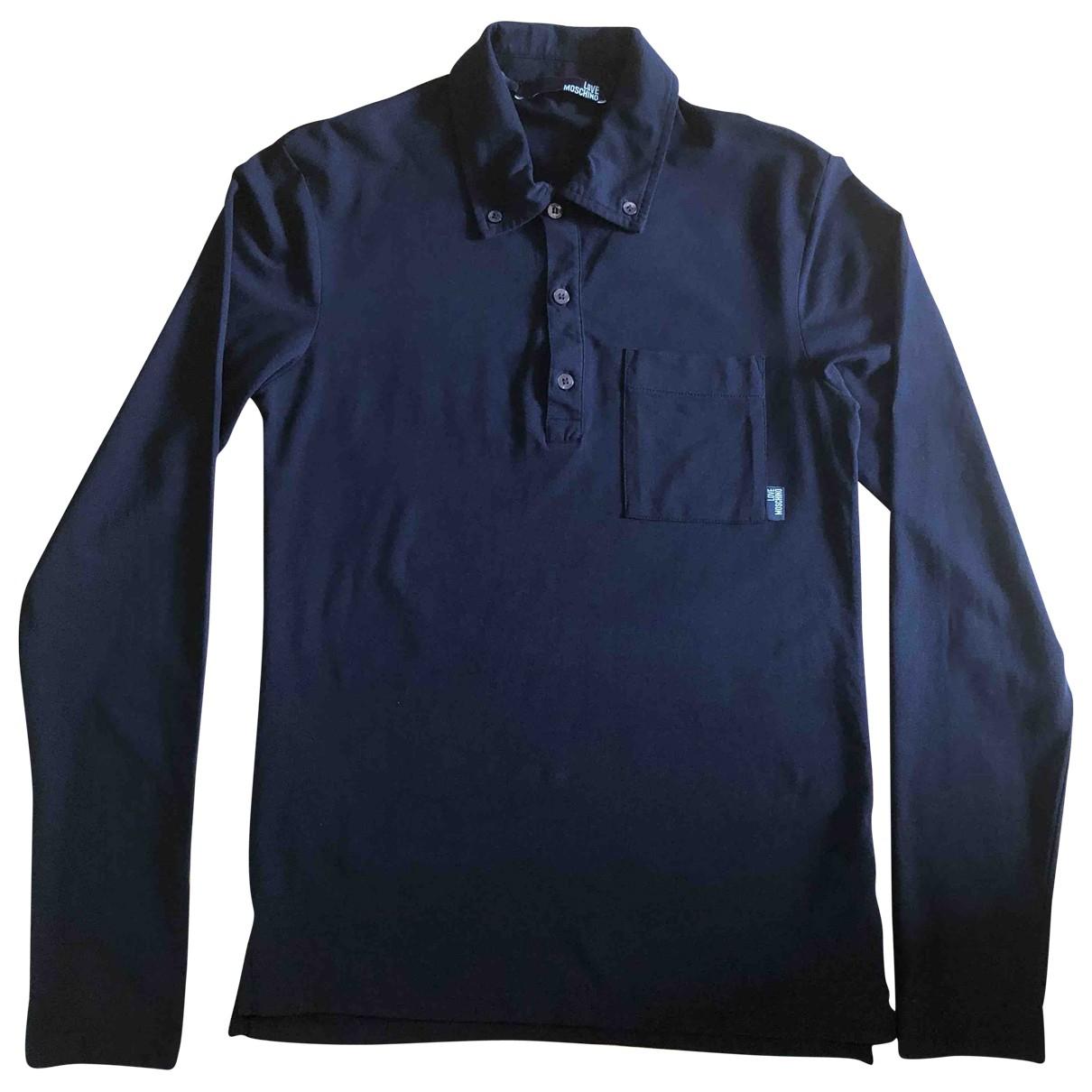 Moschino Love - Polos   pour homme en coton - noir