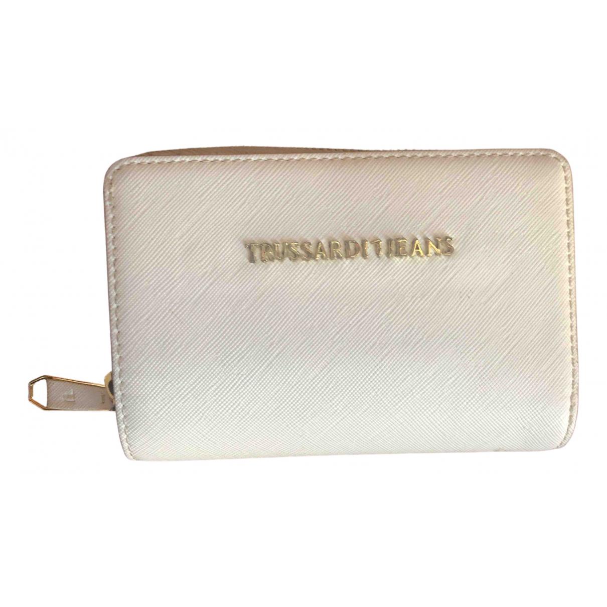 Trussardi Jean - Portefeuille   pour femme en cuir - blanc
