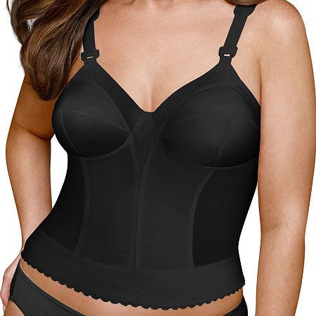 Exquisite Form Fully Back Close Longline Posture Bra #5107532, C , Black