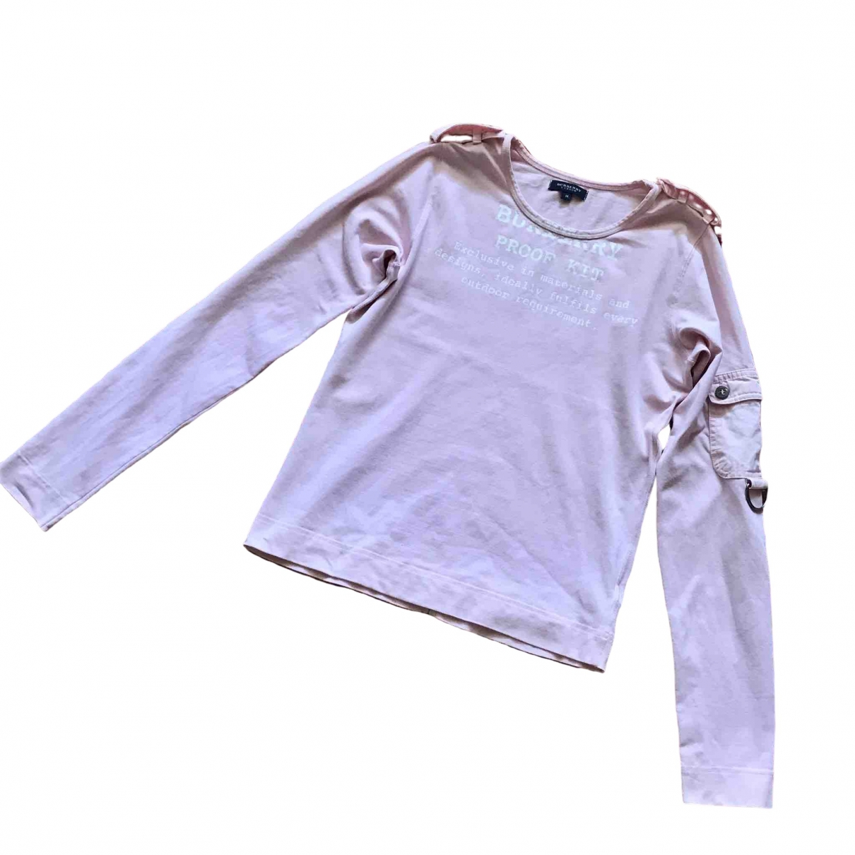 Burberry \N Pink Cotton  top for Women M International