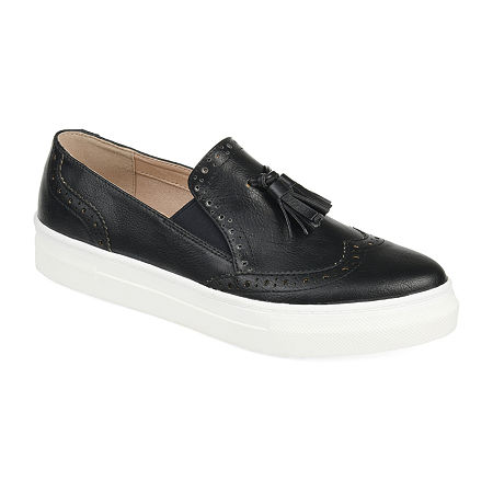 Journee Collection Womens Alisha Loafers, 6 Medium, Black