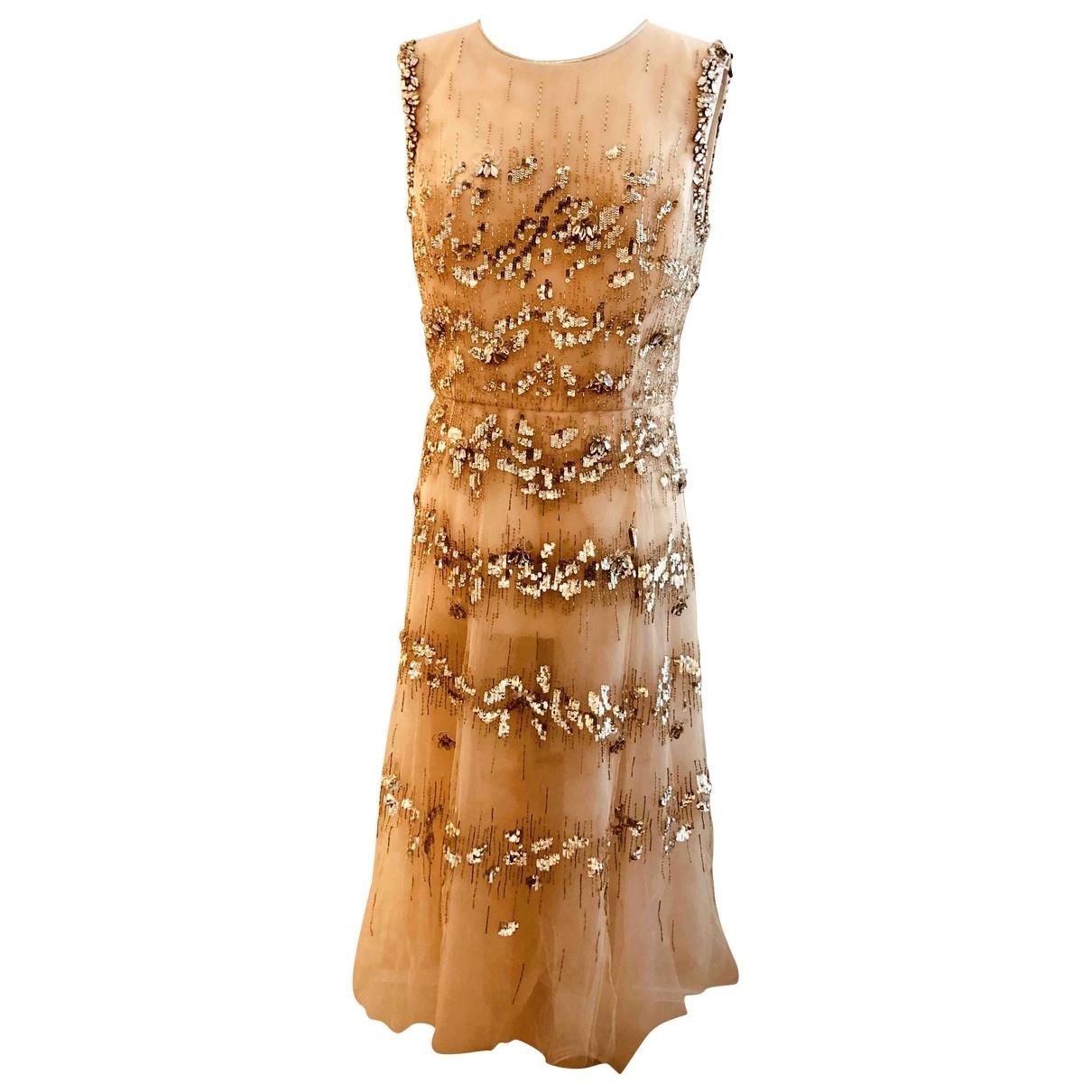 Oscar De La Renta \N Kleid in  Beige Seide